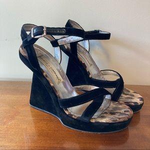 Dolce & Gabbana Black Velvet Wedge High Heels 40